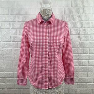 Boden Pink Gingham Button Down Uk 12 US 8